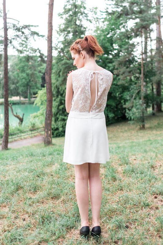 Kaa Couture modèle robe de mariée courte VICTORIA