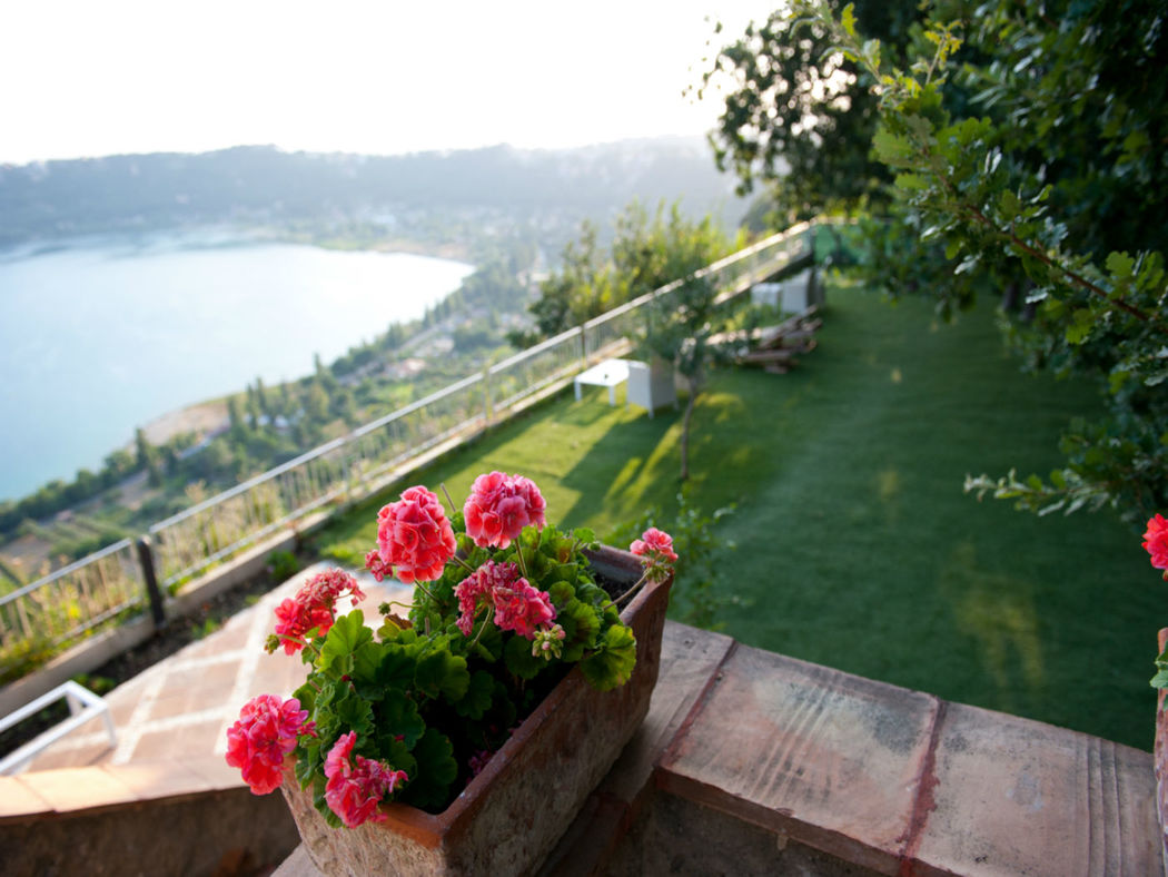 La Locanda del Pontefice giardino panorama