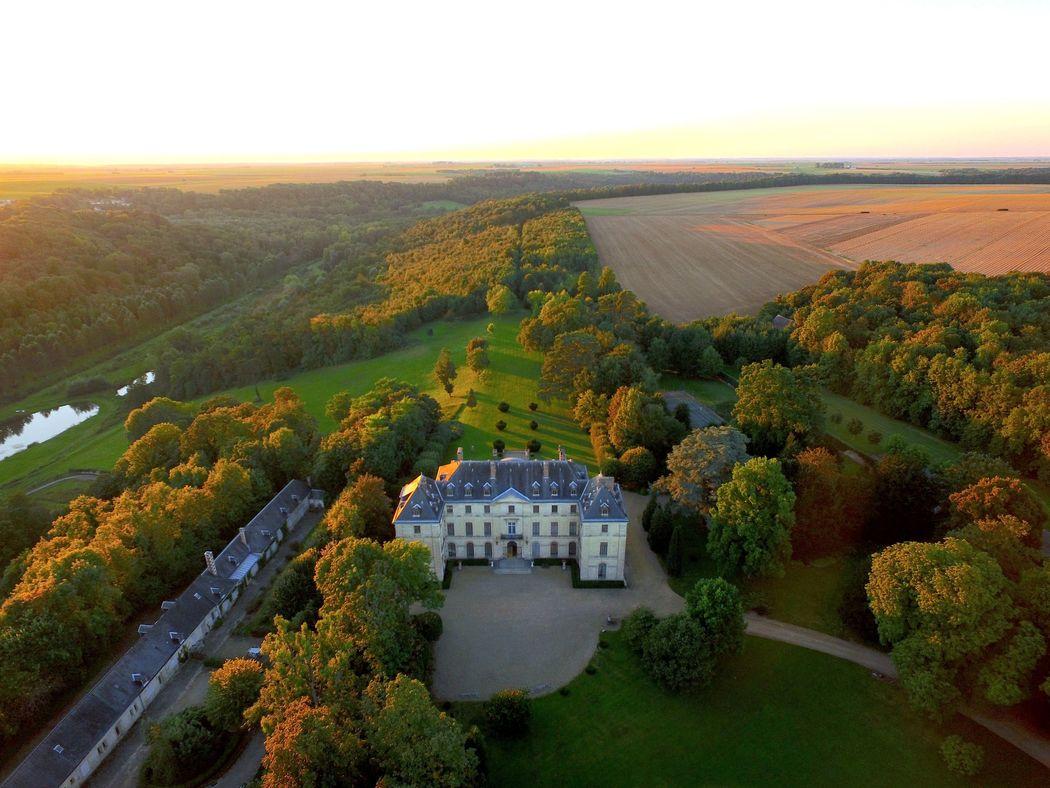 Château de Montgobert drone
