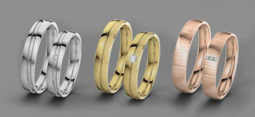 Alianzas de boda en diferentes metales. Foto: 21 Diamonds