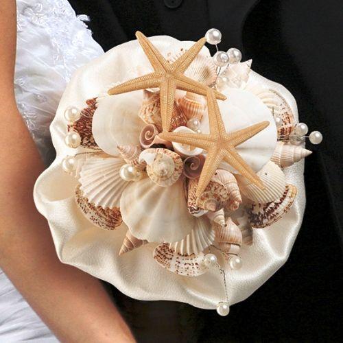 Beispiel: Brautbukett Seashell, Foto: Heiratshop.
