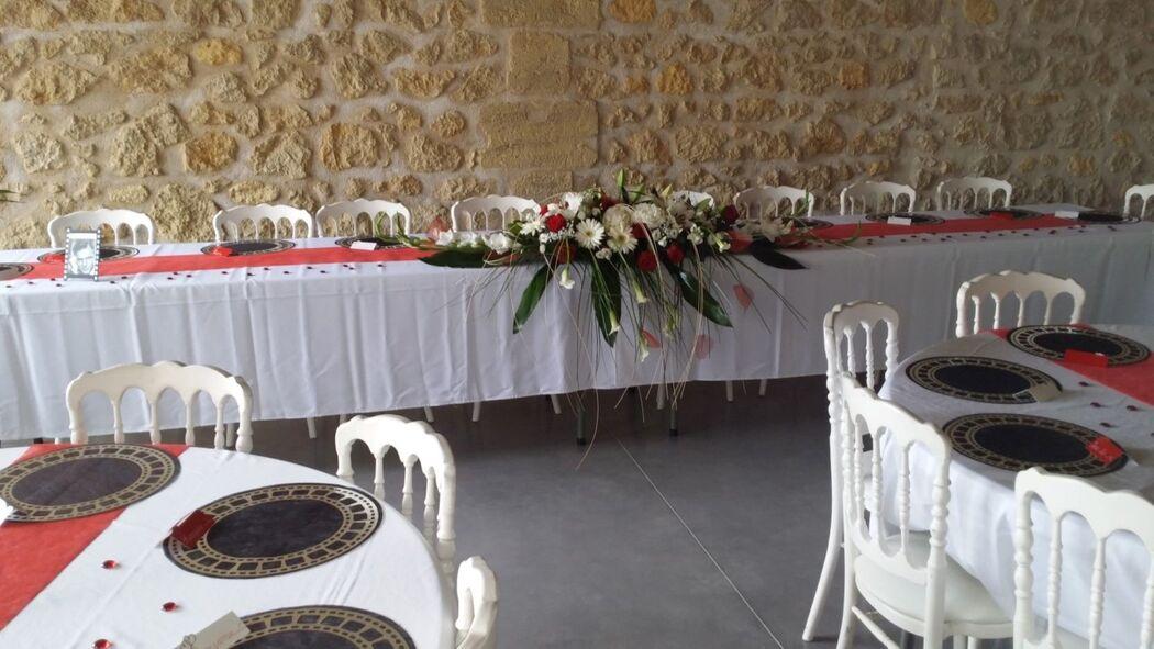 Banquet dans le chai rénové