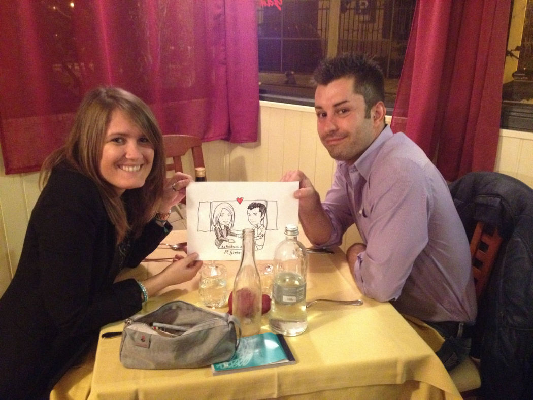 Caricatura di coppia Live