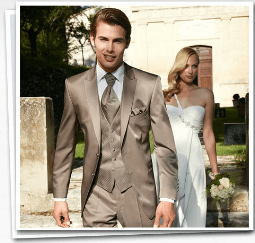 Beispiel: Wunderschöne Hochzeitsmode, Foto: Herrenausstatter Willhoeft.