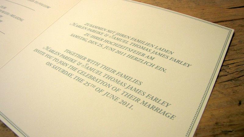 Die Drucker Hochzeitskarten