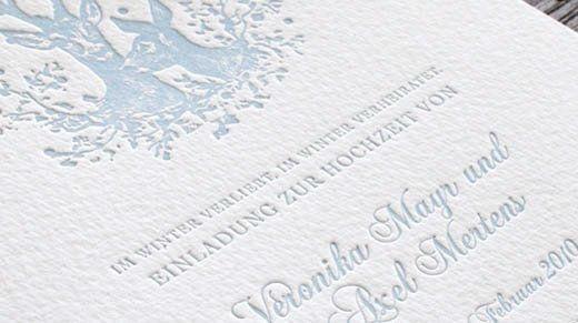 Beispiel: Hochwertige Drucktechniken für Ihre Hochzeitspapterie, Foto: Honeybird.