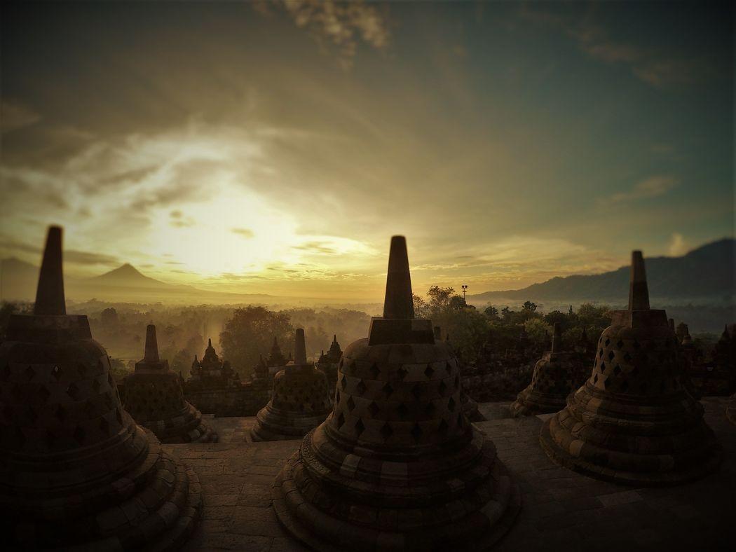 Templo. Borobudur en Yogyakarta