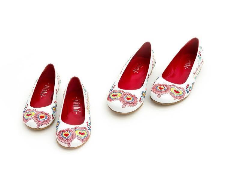 Sapatos Namorar Portugal Lilás - Branco
