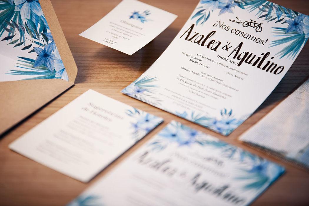 Invitaciones de boda diseñadas para compartir la gran noticia. ¿Como te gustarían las tuyas?