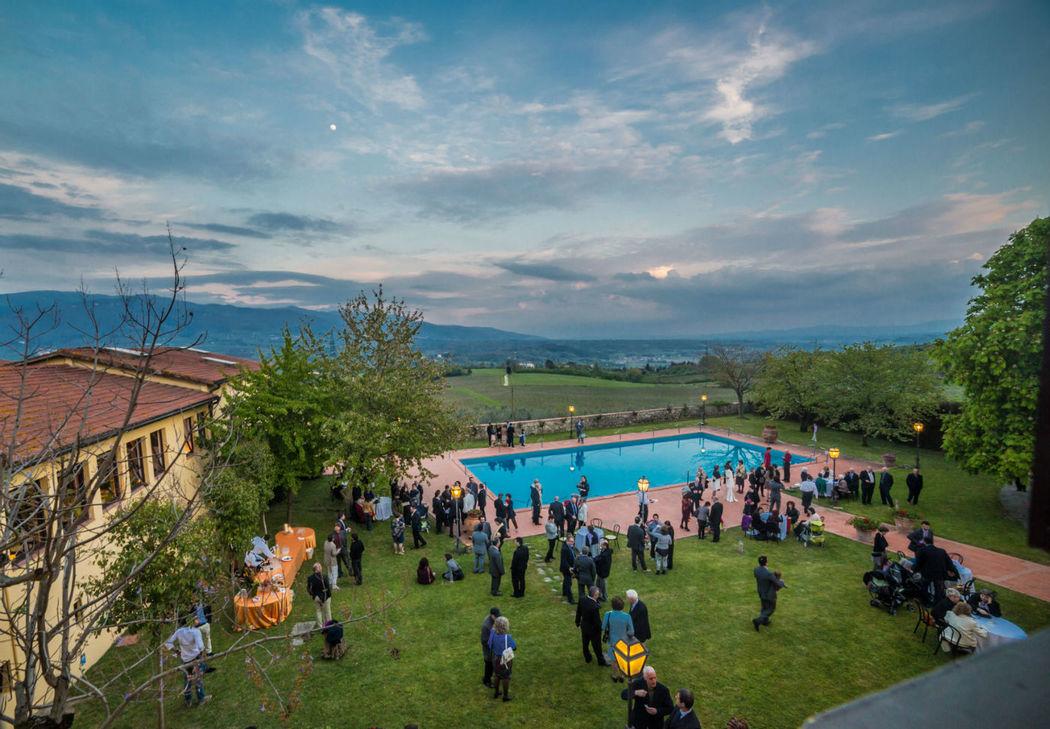 FATTORIA PAGNANA - Piscina Villa e vista Vallombrosa