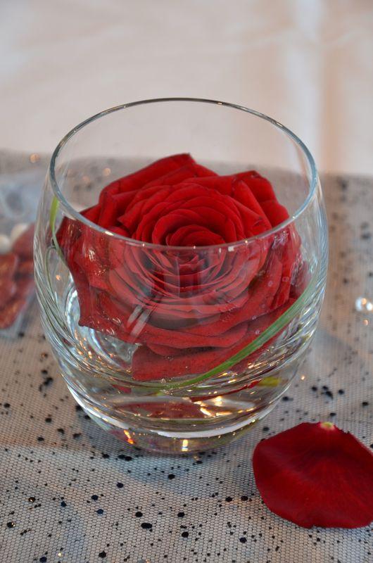 Soliflore rose rouge