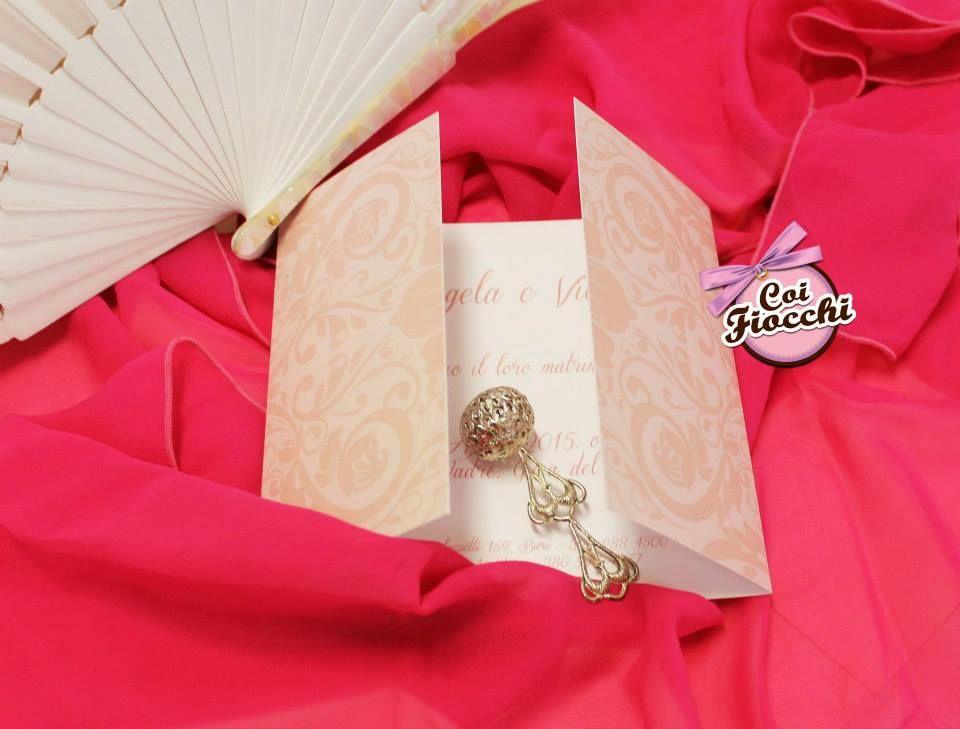Coi Fiocchi wedding design - invito elegante e romantico color rosa antico
