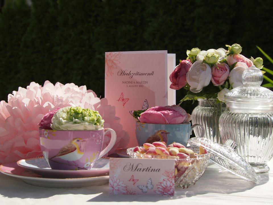 Beispiel: Hochzeits-Bankett in rosa, Foto: Butterfly Dreams.