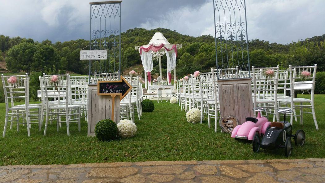 disponemos de cupula desmontable y mobiliario de ceremonia en cualquier punto de la isla de mallorca
