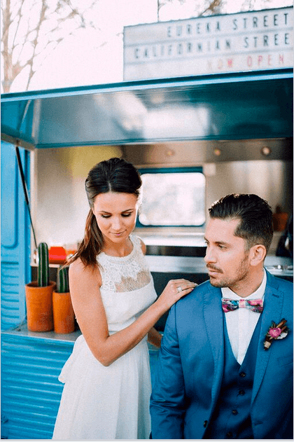 Street van wedding Barcelona