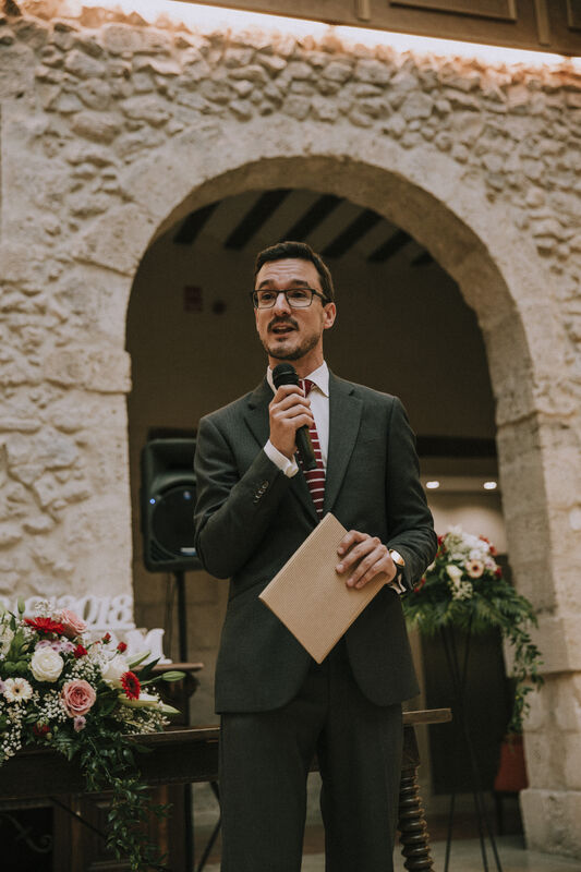Daniel Rodríguez, maestro de ceremonias