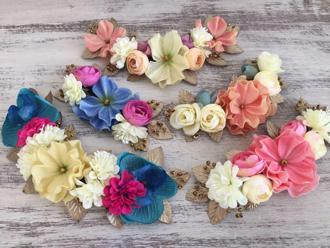 Medias Coronas de Flores