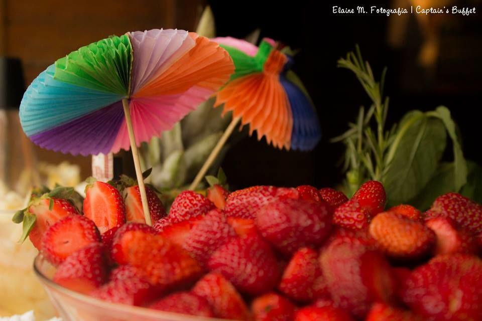 Frutas da estação para os Drinks.