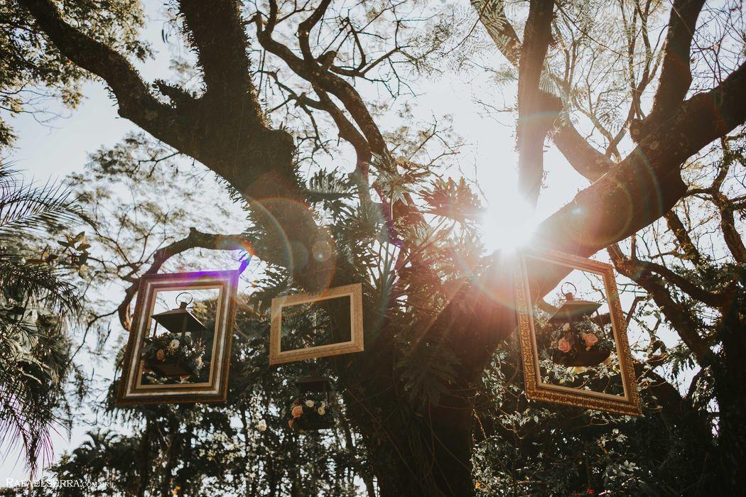 Cenário árvores e decoração