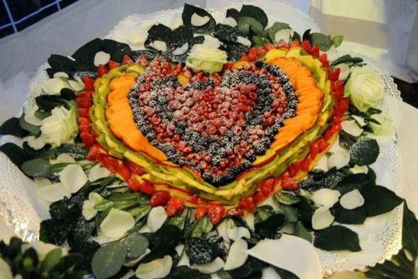Torta nuziale e cuore - La Buona Tavola Catering&Banqueting Firenze