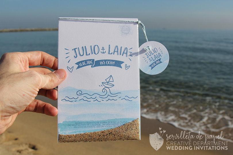 Invitación de boda marinera  L&J