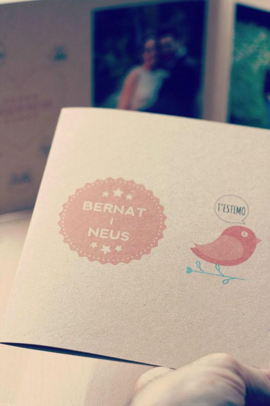 Recordatorio de boda Bernat + Neus   www.servilletadepapel.es