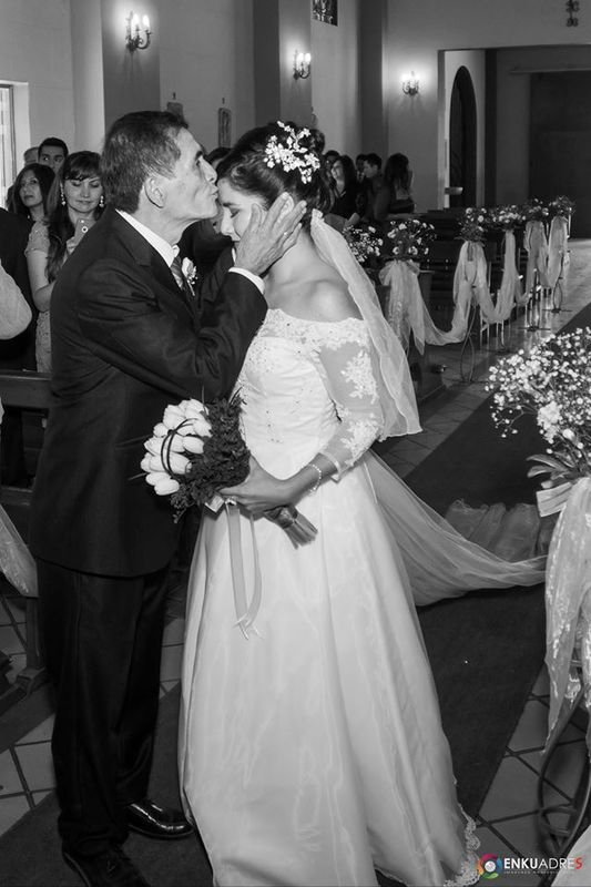 Un momento realmente mágico entregando a la novia