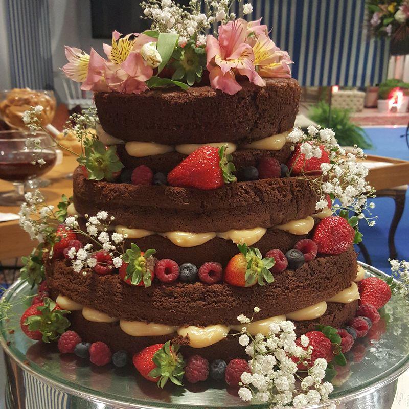 naked cake  de chocolate gourmet