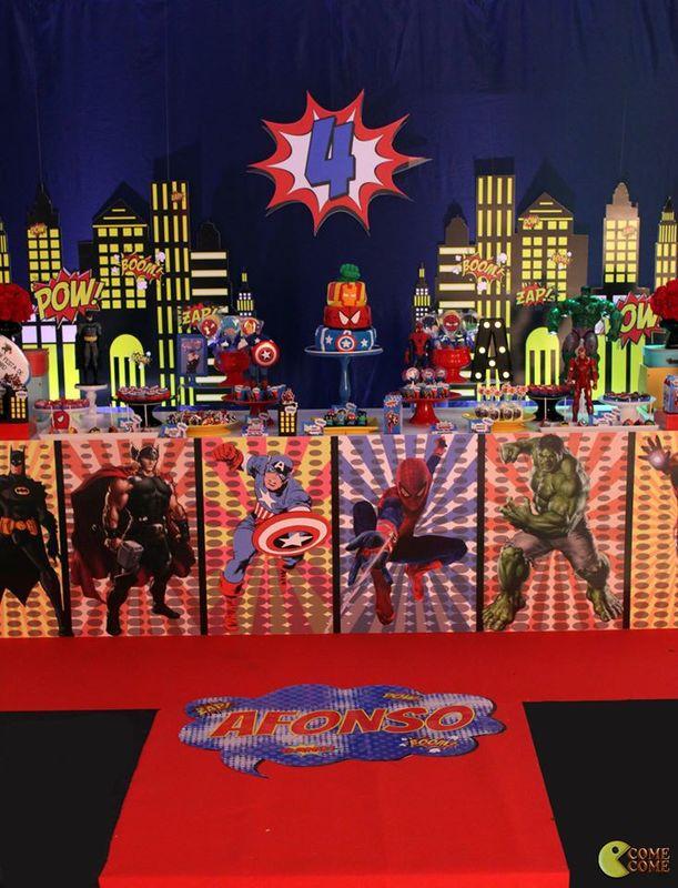 Come Come Festas- Tema Super Heróis