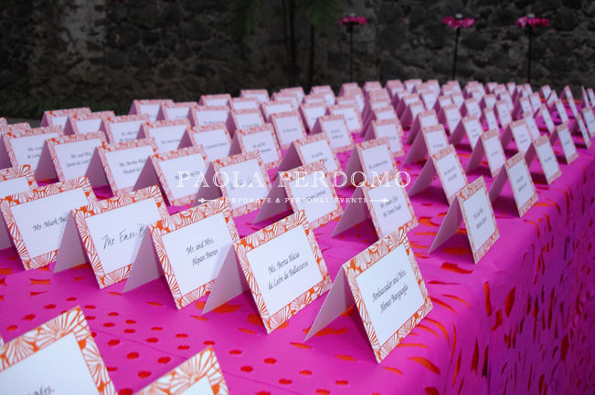 Acomodo de invitados, decoración con detalles. Foto: Paola Perdomo