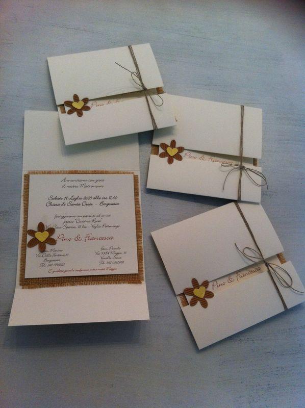 Partecipazione invito per matrimonio rustico