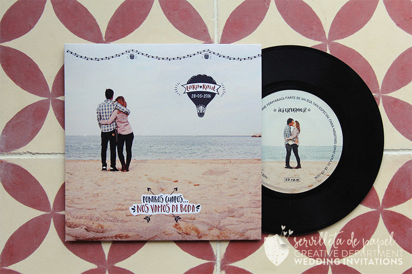 Invitación de boda L&R - Disco de vinilo