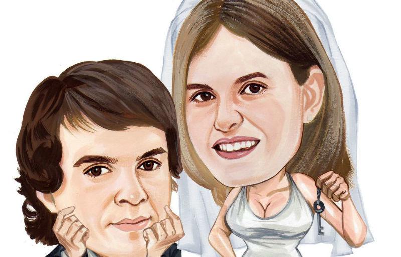 Beispiel: Lustige Karikaturen vom Brautpaar, Foto: Galleryy.