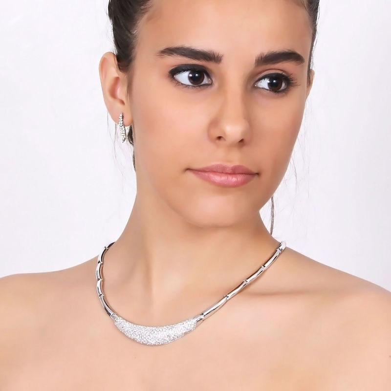 Arya Italian Jewels - Gioielli Sposa e Matrimonio - Collana e orecchini con strass Swarovski