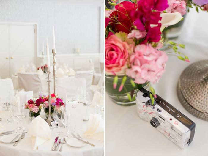 Beispiel: Tischdekoration, Foto: Waldhotel Stuttgart.