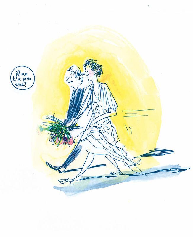 Croqueuse de mariage - album dessiné