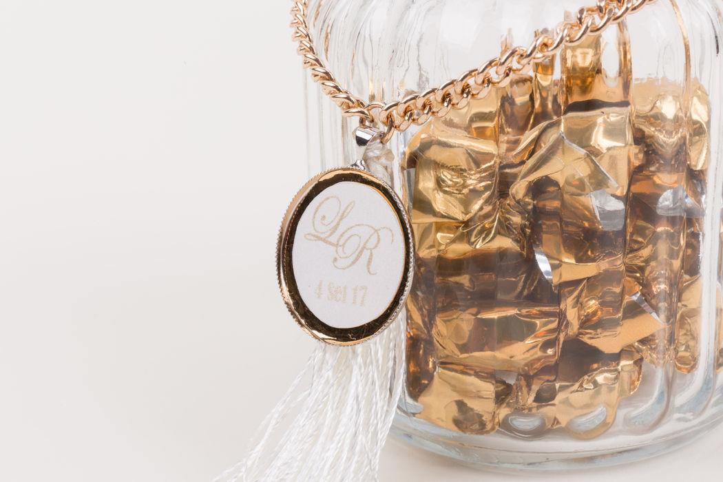 Lembrança Recipiente de vidro com rebuçados de café