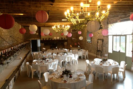 Domaine de Lucain - la salle de réception