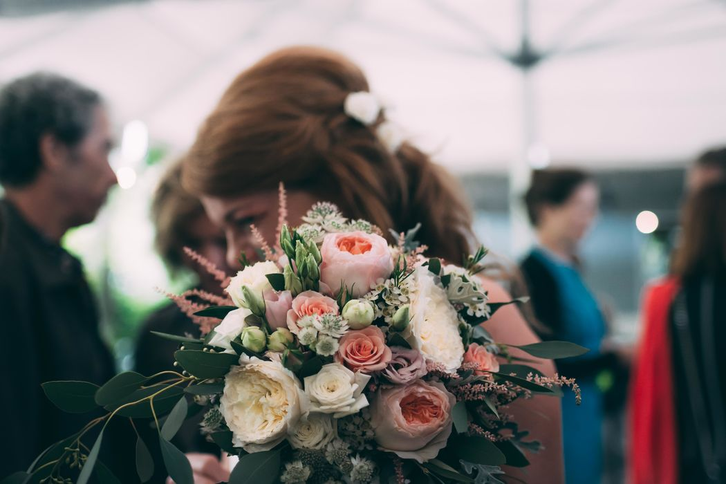 Brautstrauss Englische Rosen