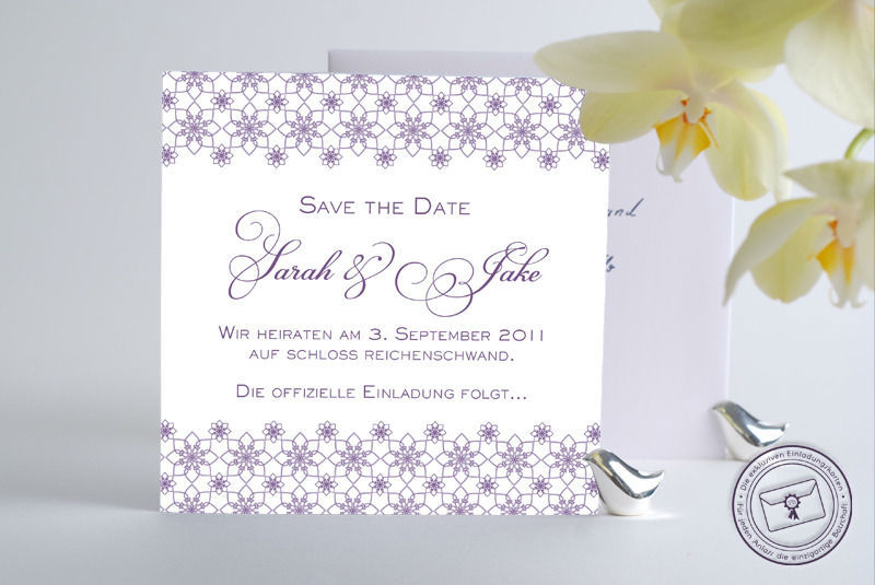 Die exklusiven Einladungskarten