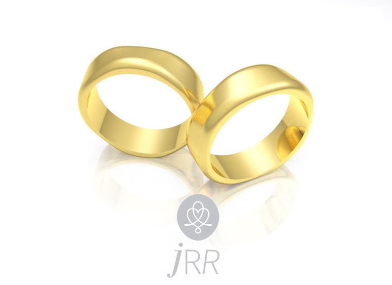 Alianças Estrela em ouro amarelo