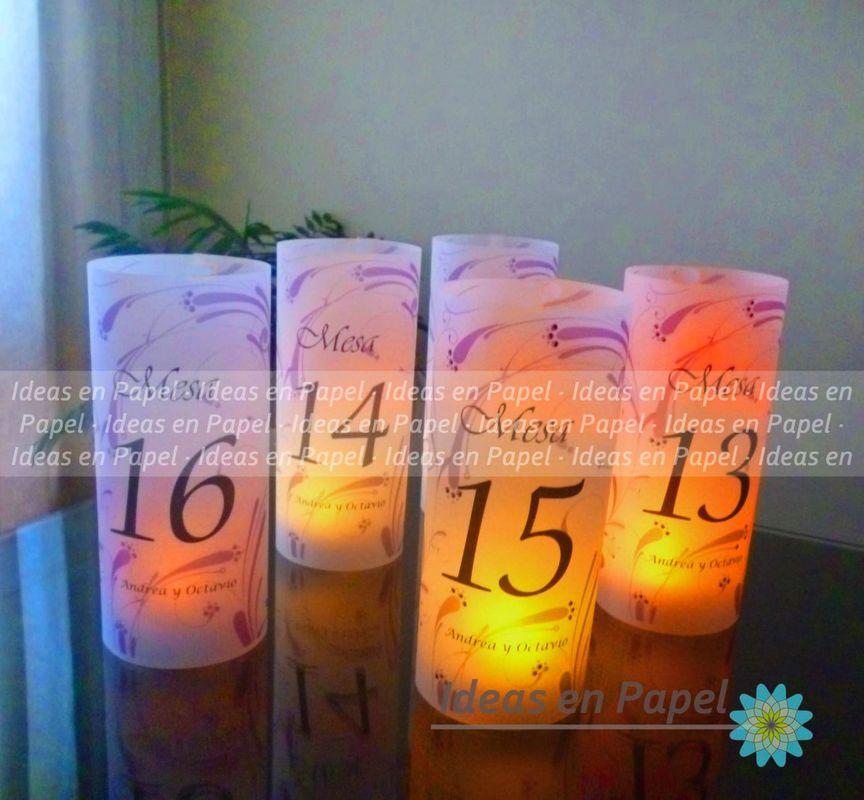 numeración de mesas