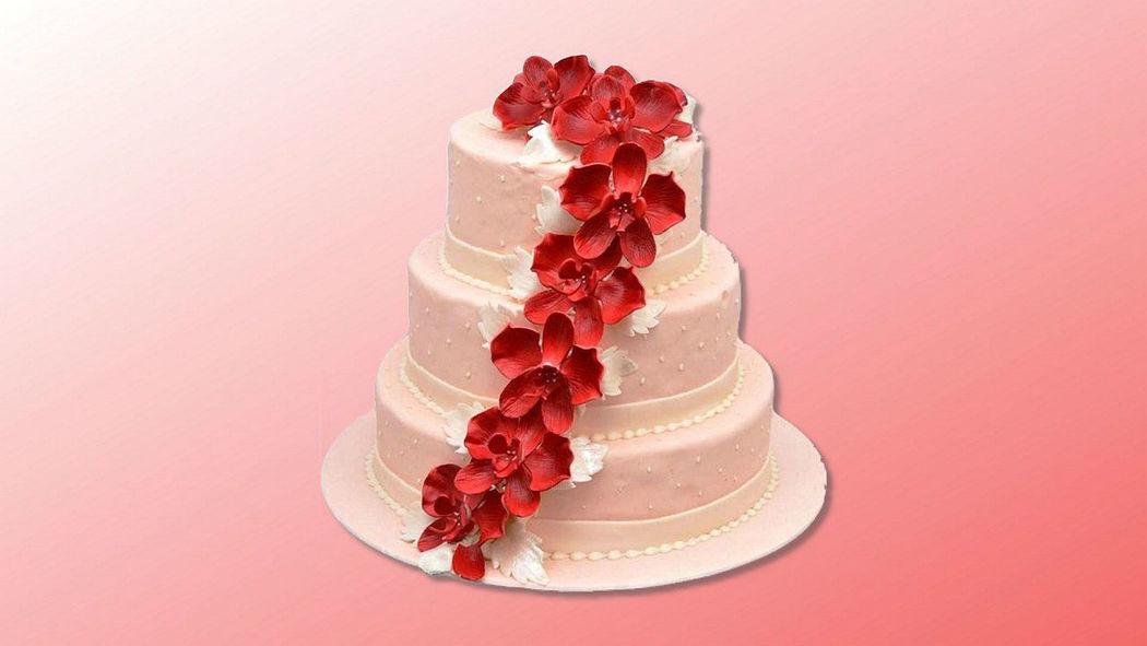 Beispiel: Hochzeitstorte, Foto: Trau Dich Torte - Conditorei Slanitz.
