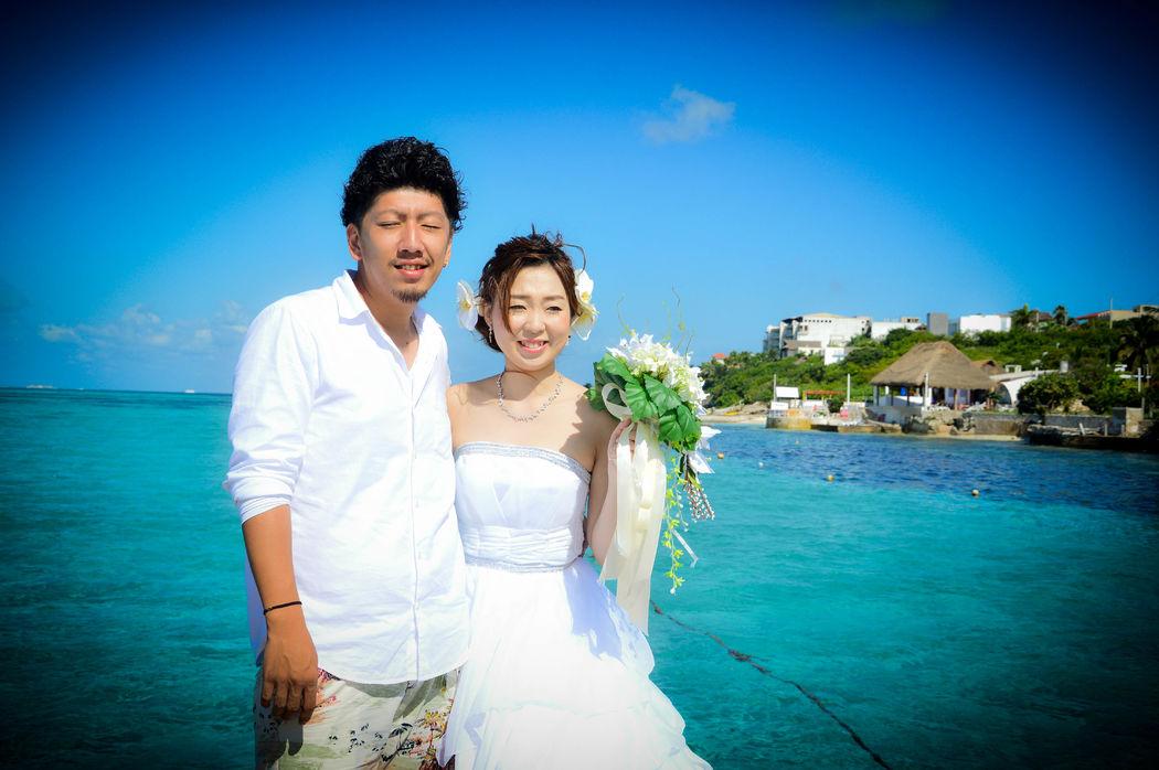 Tu boda en el bello parque Garrafón, Isla Mujeres.