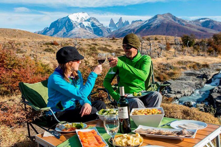 Almuerzo campestre en Torres del Paine