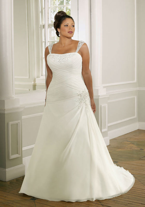 Beispiel: Brautmode in allen Größen, Foto: Tessa & Thomi.