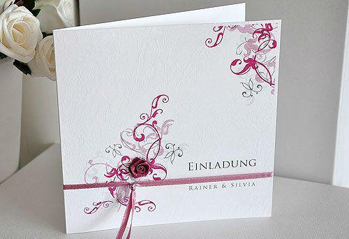Beispiel: Wunderschöne Einladungskarten, Foto: BBFT-Atelier Manufaktur.