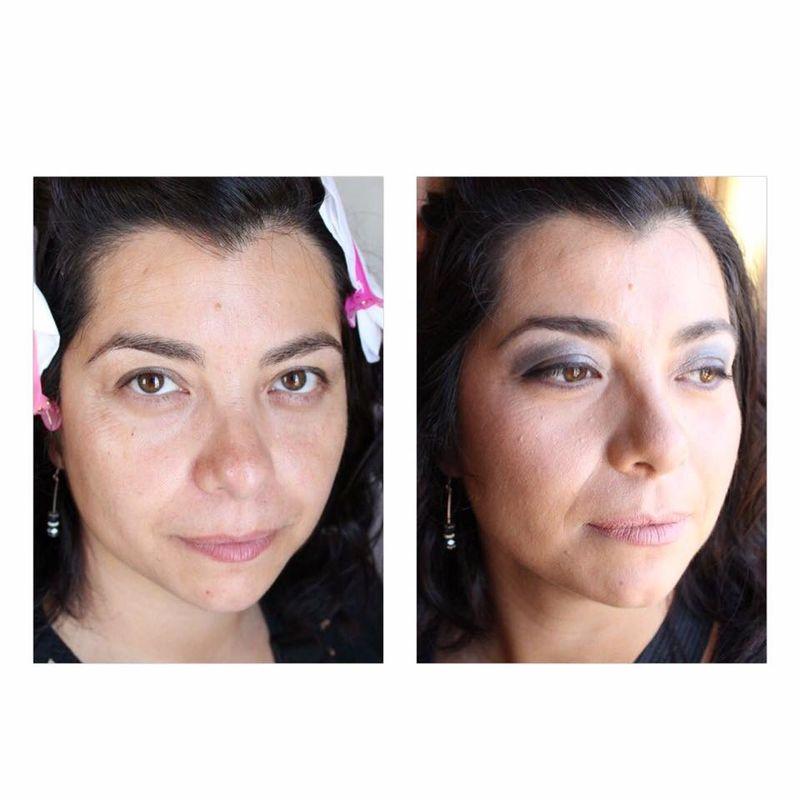 Antes y despues. Maquillaje y Peinado de invitada (social)