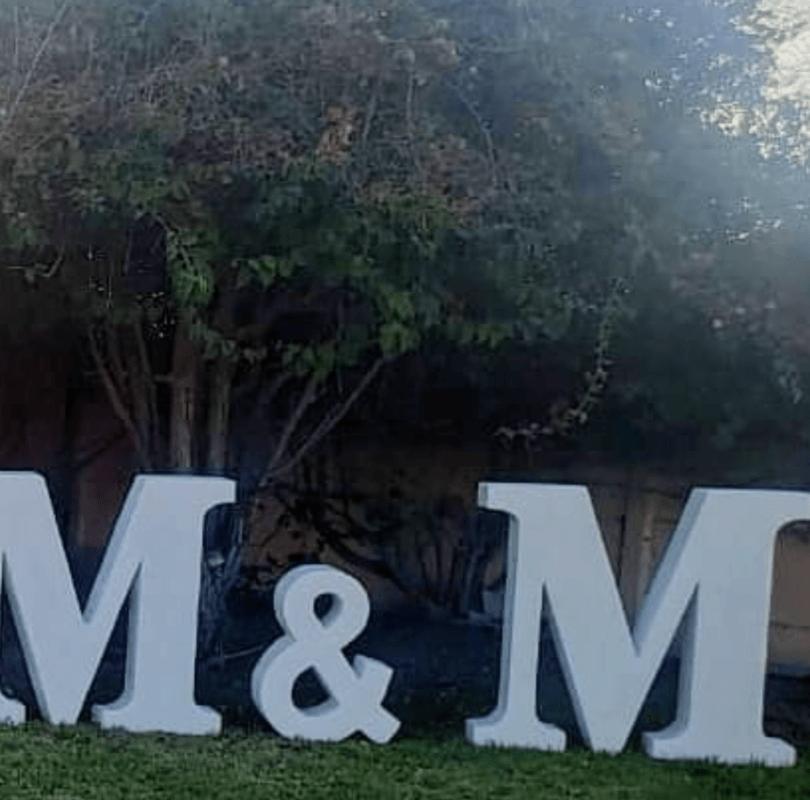 Letras para Eventos M&M