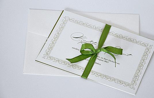 Beispiel: Ihre Hochzeitseinladungen, Foto: Ephemeres FEINE DRUCKSACHEN.